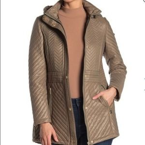 NWT Via Spiga Quilted Hooded Anorak Down